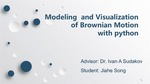 Modeling and Visualization of Brownian Motion with Python