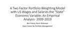 A Two Factor Portfolio Weighting Model with Wages and Salaries as the State Economic Variable: An Empirical Analysis 2009-2019