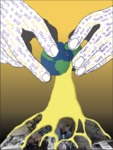 Ekua Bransah: 1918 & 2020 Pandemic Poster by Ekua Bransah