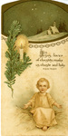 Child Jesus Christmas holy card
