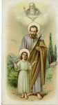 Child Jesus and Saint Joseph holy card