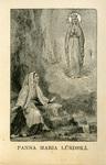 Panna Maria Lúrdská holy card