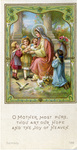 Mary and Jesus with children holy card