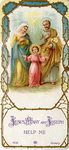 Holy Family holy card