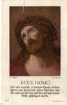 Ecce Homo holy card