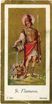 St. Florianus holy card