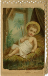 Baby Jesus holy card