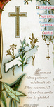 Thorns and rosary profession holy card