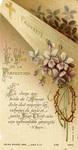 La Voie de la Perfection profession holy card