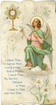 First sacred mass holy card