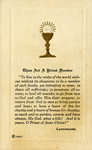 Chalice ordination holy card