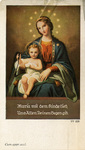 Mary and Jesus ordination holy card