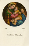 Madonna della sedia ordination holy card