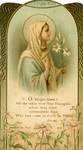O Virgin blest silver jubilee holy card