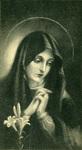 Virgin Mary memorial holy card