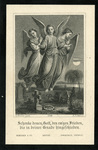 Angels in graveyard memorial holy card