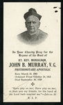Monsignor John B. Murray memorial holy card