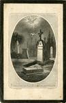Cemetery memorial holy card