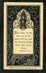 Souls of the just memorial holy card