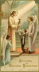 Jesus and angels first communion holy card