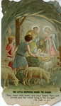 Little shepherds holy card