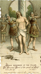 Jesus scourged holy card