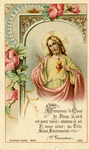 Jesus and Sacred Heart holy card