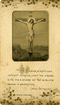 Crucified Jesus holy card