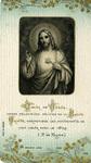 Cœur de Jésus holy card