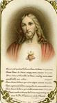 Sacré Cœur holy card