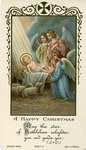 Happy Christmas holy card