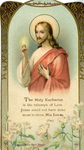 Holy Eucharist holy card
