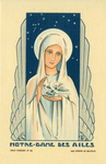 Our Lady of the Wings holy card
