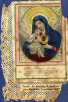 Hearts of Jesus and Mary holy card