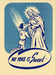 My Yoke is Sweet holy card