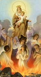 Our Lady of Mt. Carmel holy card