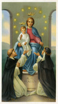 Queen of the Rosary holy card