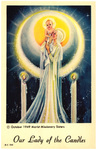Our Lady of the Candles holy card