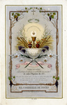 Je suis d'Epouse de J.C. holy card