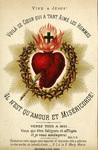 Vive Jésus! Sacred Heart holy card
