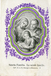 Sancta Familia holy card