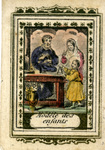 Modèle des enfants holy card