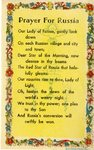 Prayer for Russia holy card