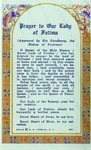 Prayer to our Lady of Fatima holy card