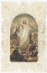 Resurrection: Jesus & Guards at Tomb holy card