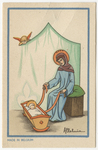St. Anne rocks Mary in cradle