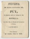 Novena de Maria Santisima del Puy, patrona de la ciudad de Estella ...
