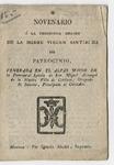 Novenario a la prodigiosa imagen de la Madre Virgen Santisima del Patrocinio, venerada en ... villa de Cardona ...
