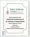 Saint Anthony of Padua, Dayton, Ohio: Celebrating 100 Years, 1913-2013