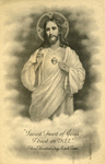Sacred Heart prayer card by Apostleship of Prayer